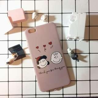 🚚 iPhone6/6s plus 查理情侶煙燻粉手機殼💑