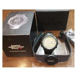 SUUNTO AMBIT3 SPORT Black (HR) With heart rate belt - Used, 70% new
