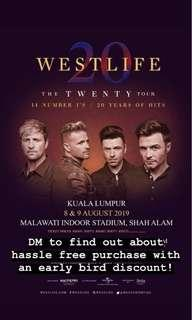 Westlife Concert Ticket 8th & 9th Aug