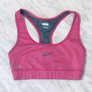 Nike Fit Dry Pink Sports Bra - Size Small
