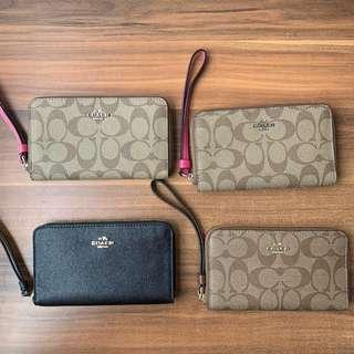 [SALE] Coach Authentic Crossgrain Leather Phone Wallet F58053 F57468