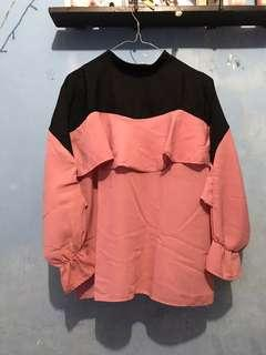 Blouse pink and black