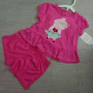🚚 NEW 18M  'Just For You' Authentic Carter's Girl's 2 Pcs Set