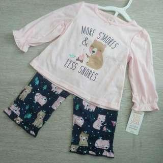 NEW  18M  'Just For You' Authentic Carter's Girl's 2 Pcs Set