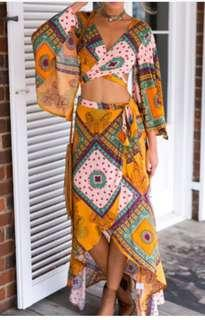Boho two piece outfit