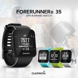 Garmin Forerunner 35 GPS Running Watch Heart Rate monitor smartwatch iphone
