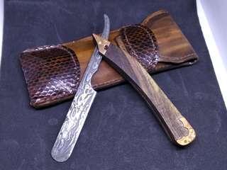 Barber straight edge razor knife