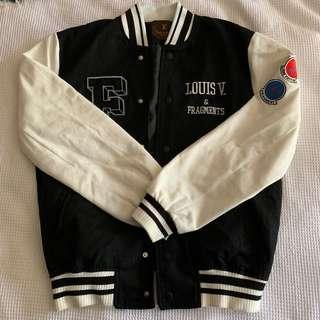 Louis Vuitton LV x Fragment embroidered bomber baseball jacket