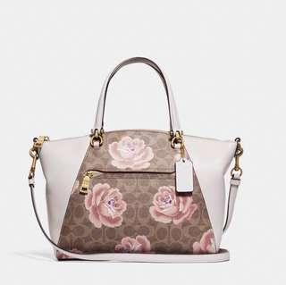 🚚 COACH PRAIRIE SIGNATURE ROSE PRINT