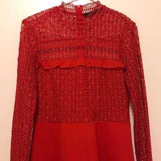 Zara Lace Patterned Dress