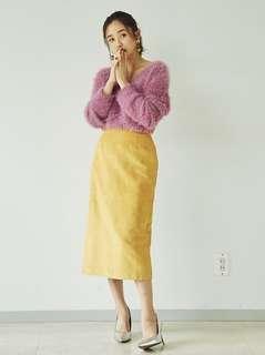 Ungrid 黃色麂皮裙