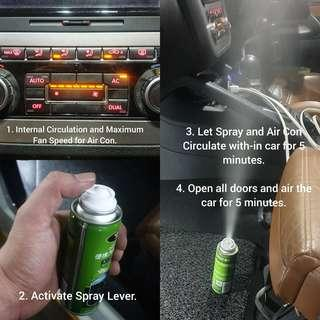 Car Air Con Anti-Bacterial And Cleaner Spray