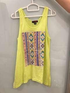 Neon Sleeveless Top