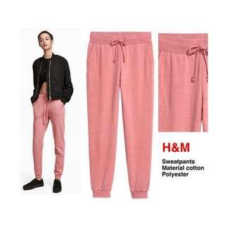 JOGGER DUST PINK BY H&M ORIGINAL