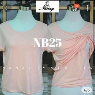 Peach Nursing Shirt / Top