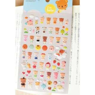 Last 1 Instock! (Mix & Match)*Funny Korea - Bear BeBe Stickers