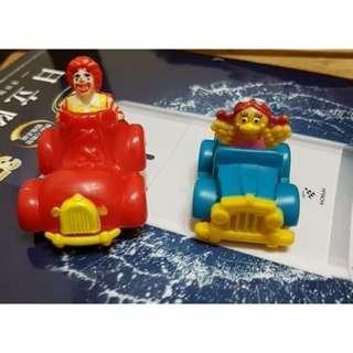🚚 1993年 麥當勞玩具 歡樂城車子[2台]