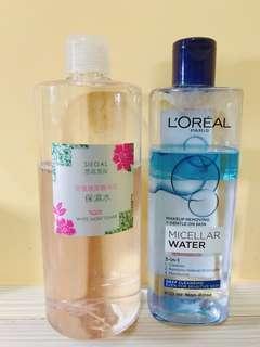 思高保濕水+巴黎萊雅卸妝油