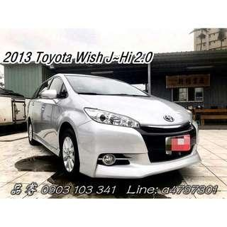 2013 Toyota Wish J~Hi 2.0
