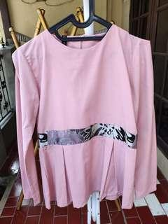 Blouse pink with batik motif