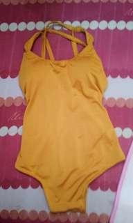 Mustard One Piece Swimsuit