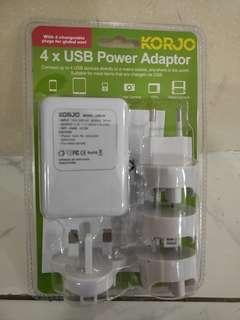 🚚 Korjo Travel Adaptor