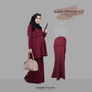 Aara peplum- baju kurung special utk mami pregy