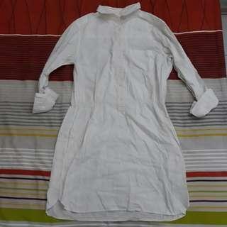 Uniqlo long sleeve shirt dress