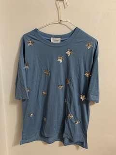 Star printed t shirt