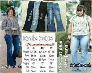 PLUS SIZE STRETCHABLE BOOTCUT JEANS- instock limited