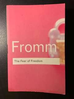 🚚 THE FEAR OF FREEDOM by ERICH FROMM