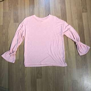 Topshop Pink Long Sleeve Top