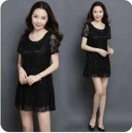 Black Lace Dress, Size: XXL
