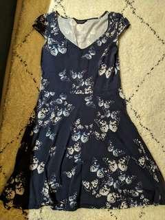 Dorothy Perkins Blue Floral Dress cotton