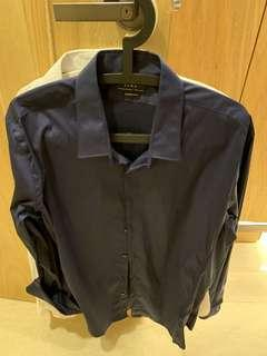 🚚 Zara深藍襯衫