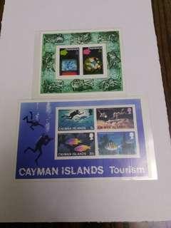 多明尼加,開曼群島小全張