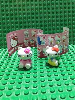 2x Hello Kitty Figurine