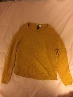 H&M Mustard Yellow Knitted Sweater