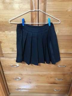 🚚 黑色百摺裙