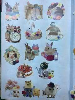🚚 貓咪兔子倉鼠貼紙