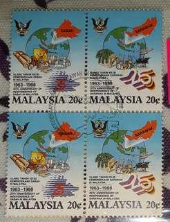 Stamps - 25th Anniversary of Sabah & Sarawak in Malaysia