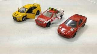 Set Tomica Honda NSX Team Kunimitsu, Lancer Evolution, Nissan Skyline Special Edition