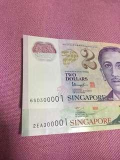 (300001) both notes nice number