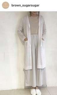 Brownsugar 韓國 東大門 白色 針織外套