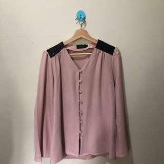 Kemeja Formal V- Neck