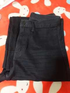 Uniqlo U High Rise Wide Ankle Jeans