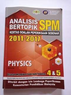 SPM physics pass year book