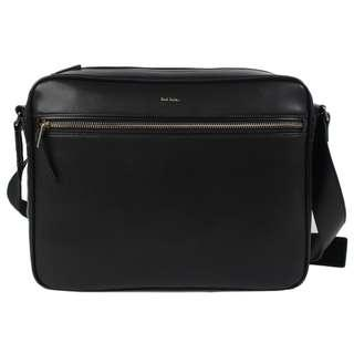 Paul Smith City Embossed Leather Messenger Bag