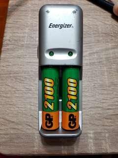 勁量 充電器連電池
