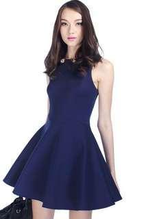 Fayth Lynden Dress in Navy - Size XS